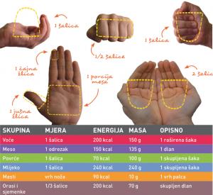 mjere ruke